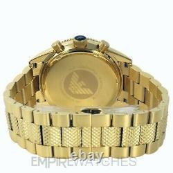 New Mens Emporio Armani Gold Pvd Chronograph Watch Ar5857 Rrp £399.00