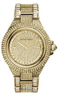 New Michael Kors Ladies Watch Mk5720 Gold Tone Pave Crystals Camille