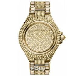 New Michael Kors MK5720 Camille Crystal Pave Quartz Stainless Steel Women Watch