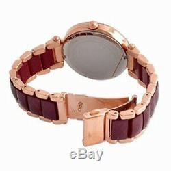 New Michael Kors MK6412 39mm Choronograph Women's Parker Rose Gold-Tone Watch