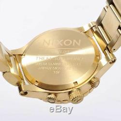 New NIXON Watch Mens 51-30 CHRONO All Gold A083-502 A083502