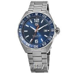 New Tag Heuer Formula 1 Quartz 43mm Blue Dial Steel Men's Watch WAZ1010. BA0842