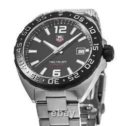 New Tag Heuer Formula 1 Quartz Black Dial Steel Men's Watch WAZ1110. BA0875