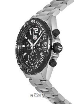 New Tag Heuer Formula 1 Quartz Chronograph Black Men's Watch CAZ1010. BA0842
