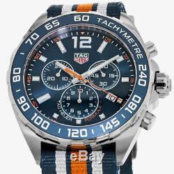 New Tag Heuer Formula 1 Quartz Chronograph Blue Men's Watch CAZ1014. FC8196