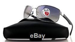 POLARIZED Genuine RAY-BAN Glass Lens Gun metal Frame Sunglasses RB 3478 004/78