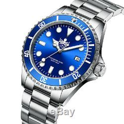 Phoibos Men's PX002B 300M Dive Watch Swiss Quartz Blue Sport Watch
