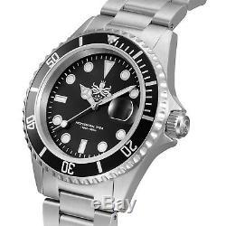 Phoibos Men's PX002C 300M Dive Watch Swiss Quartz Black Sport Watch