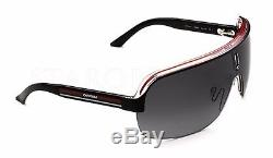 RARE NEW Authentic CARRERA TOPCAR 1 Black Crystal Red Shield Sunglassess KB0PT