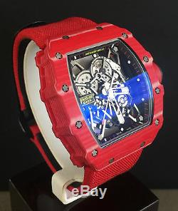 Richard Mille Rm35-02 Red Quartz Tpt Rafael Nadal Brand New