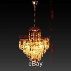 Ridgeyard Elegant 4 lights Crystal Ceiling Chandelier Pendant Fixture Lighting