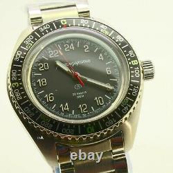 Russian Vostok Komandirskie 030936 Military Auto Wrist Watch Brand New