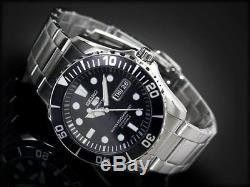 SEIKO 5 Submariner SNZF17 SNZF17K1 100m WR Hardlex Crystal