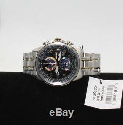 Seiko Men's Prospex World Time Solar Chronograph Silvertone Watch SSC508