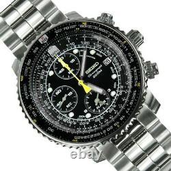 Seiko Men's SNA411 Flight Alarm Chronograph Watch SNA411P1
