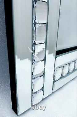 Sparkly Silver Crystal Hallway Landing Dressing Full Length Tall Mirror 120x40cm