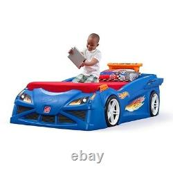 Step2 Hot Wheels Toddler-To-Twin Race Car Bed Kids Car Bed BRAND NEW