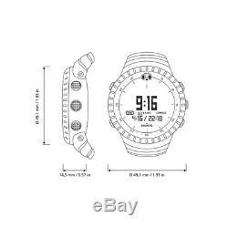 Suunto SS014279010 Core Digital Display Quartz Watch, Black Elastomer Band, Roun