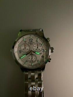 TISSOT T-Sport PRC 200 T17.1.586.32 WHITE Wristwatch T461 Chronograph Men's