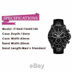 TISSOT V8 T1064173605100 Black Dial T-Sport Black Leather Quartz Men's Watch