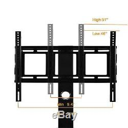 Tempered Glass Black TV Stand Console Media 32-55 with Bracket Plasma LCD TV