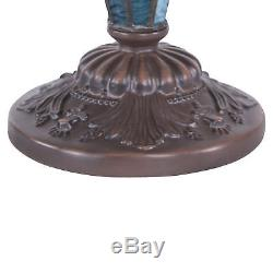 Tiffany Style Table Lamp Victorian Double Lit Desk Lamp Stained Glass Home Decor