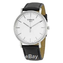 Tissot Everytime Silver Dial Black Leather Men's Watch T1096101603100