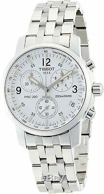 Tissot PRC200 Chronograph Stainless Steel Men's Brand New Watch T17.1.586.32