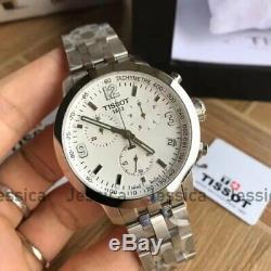 Tissot T0554171101700 White Dial Silver Tone T-Sport Chrono Men's Quartz Watch