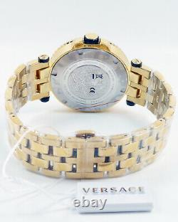 Versace Men's Watch VEAK00618 V-Race Gold Coloured Stainless Steel Brand New