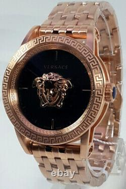 Versace Men's Watch VERD00718 Palazzo Rose Gold Swiss Made Brand Watch New
