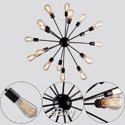 Vintage Industrial Pendant Ceiling Sputnik Edison Lamp Light Chandelier 18 Heads