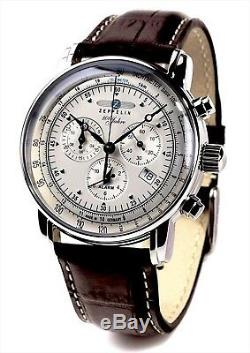 ZEPPELIN 100th anniversary commemoration model Chronograph quartz 7680-1 OA64 b